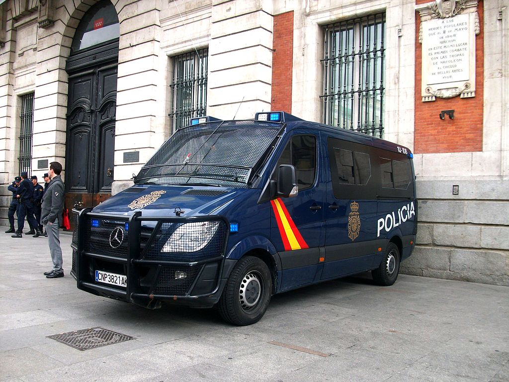 Vehicle of the Policía Nacional