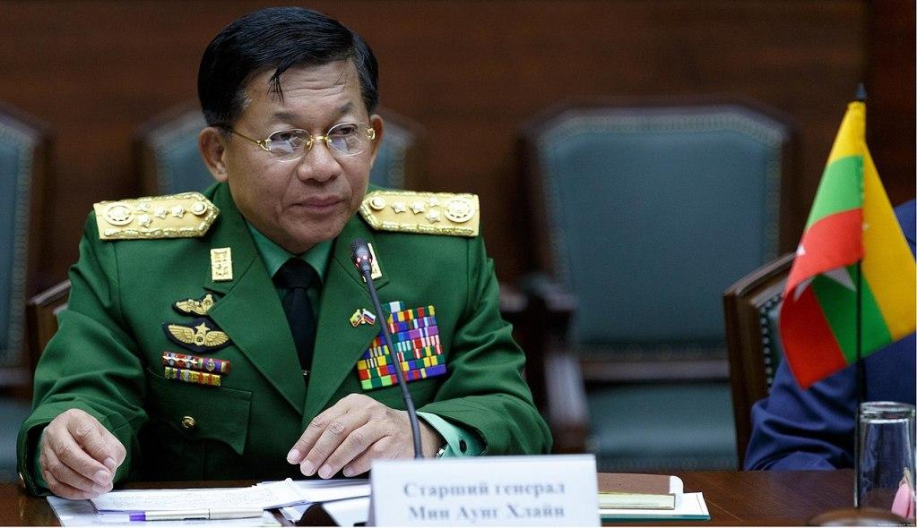 Myanmar Military Junta leader Min Aung Hlaing in June 2017