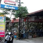 Motorcycle repair shop in Thailand