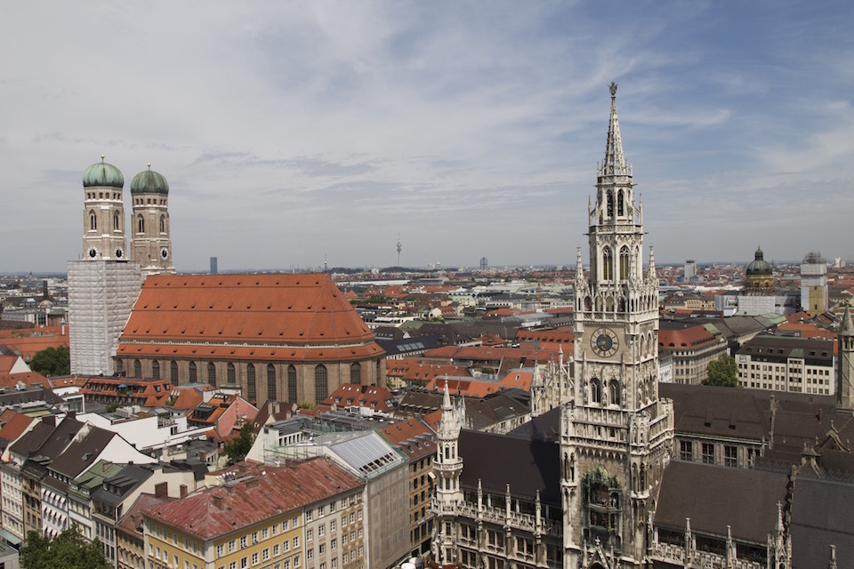 View of Munich in Germany