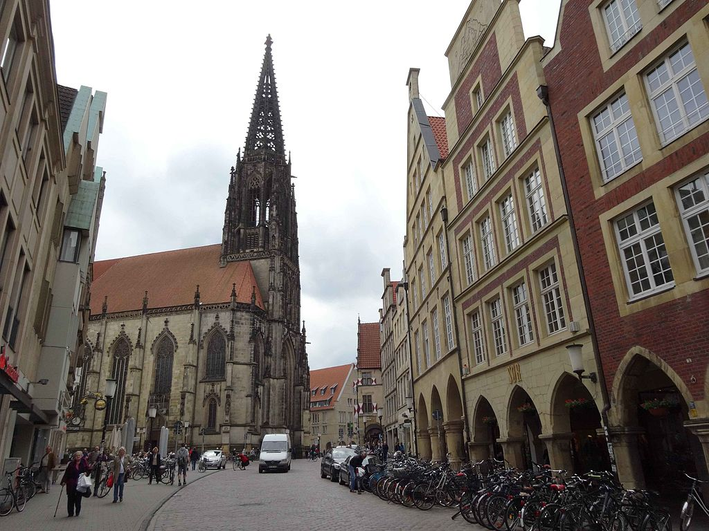 Street in in Münster, Germany