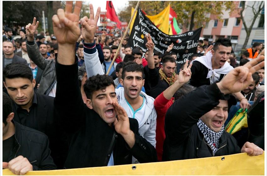 Muslim Refugees Protest in Berlin, Germany