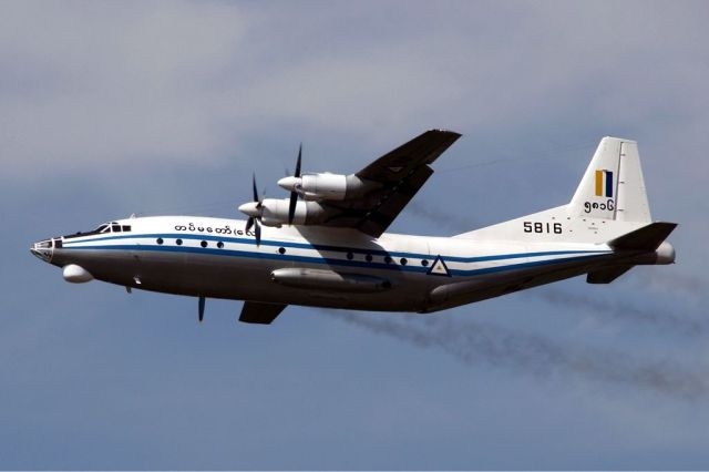 Myanmar military plane pieces found in sea