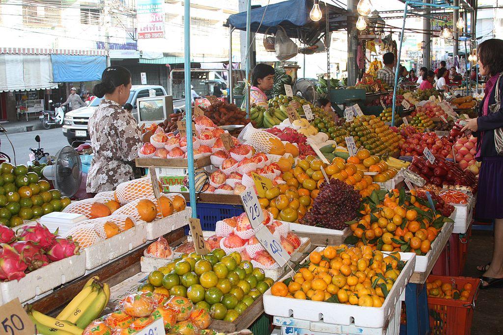 Na Klua market in Bang Lamung District, Pattaya, Chon Buri