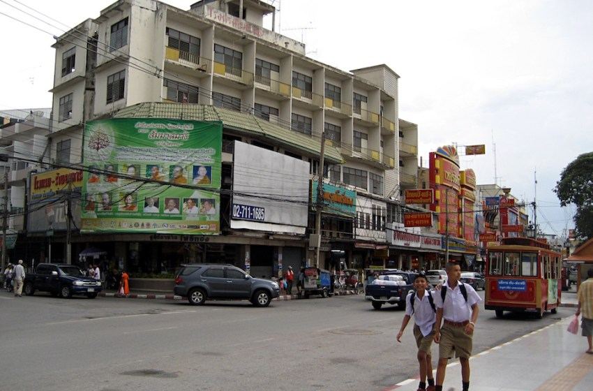 A street of downtown Korat