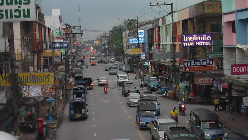Street in downtown Nakhon Si Thammarat