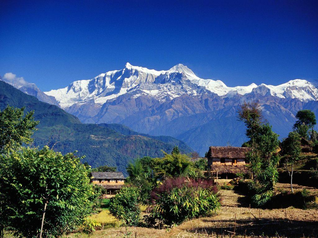 Village in Annapurna Range (Pokhara), Nepal