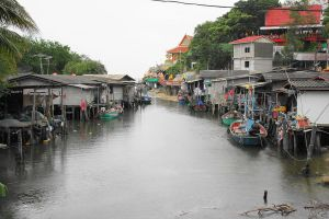 Nong Kae canal in Hua Hin District