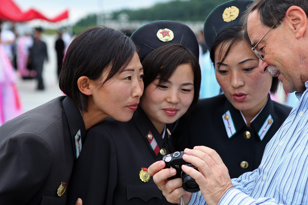 Military women in North Korea