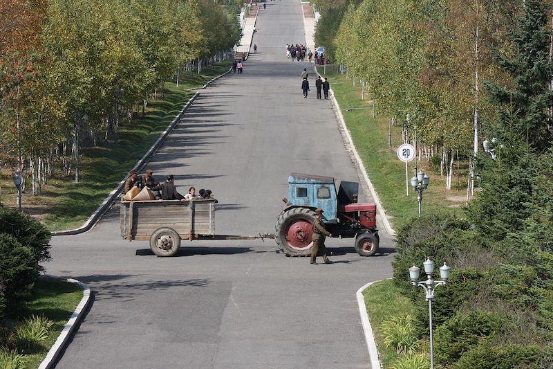 Farmers in North Korea