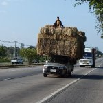 Overloaded pickup truck in Khon Kaen