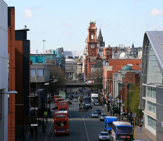 Oxford Road in Manchester