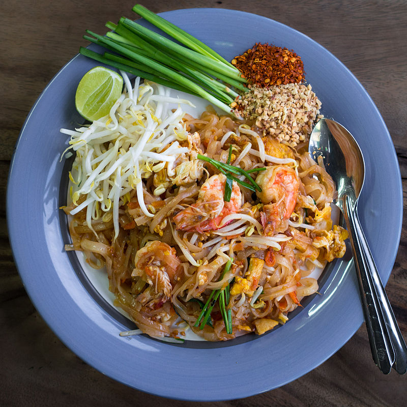 Phad Thai kung costing about 35 baht, from a street stall in Chiang Mai