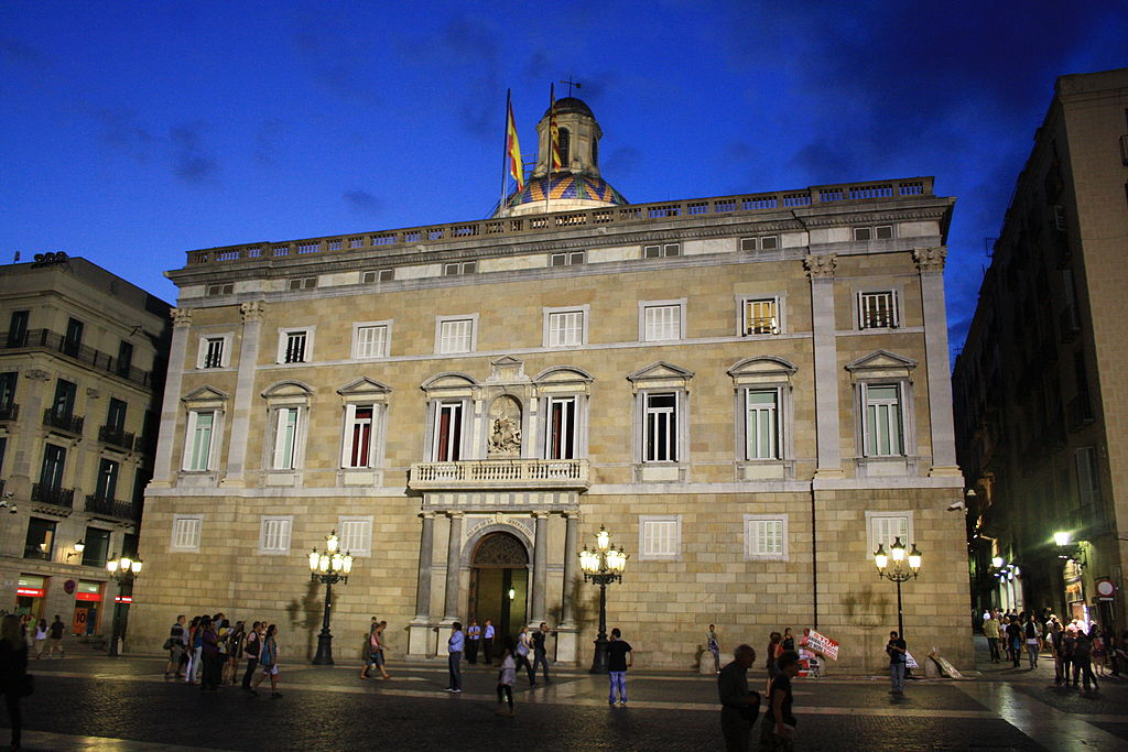 The Palau de la Generalitat in Barcelona