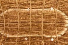Bamboo detail of the Sport Hall at Panyaden School, Chiang Mai