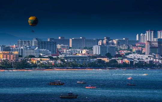Pattaya Beach at night