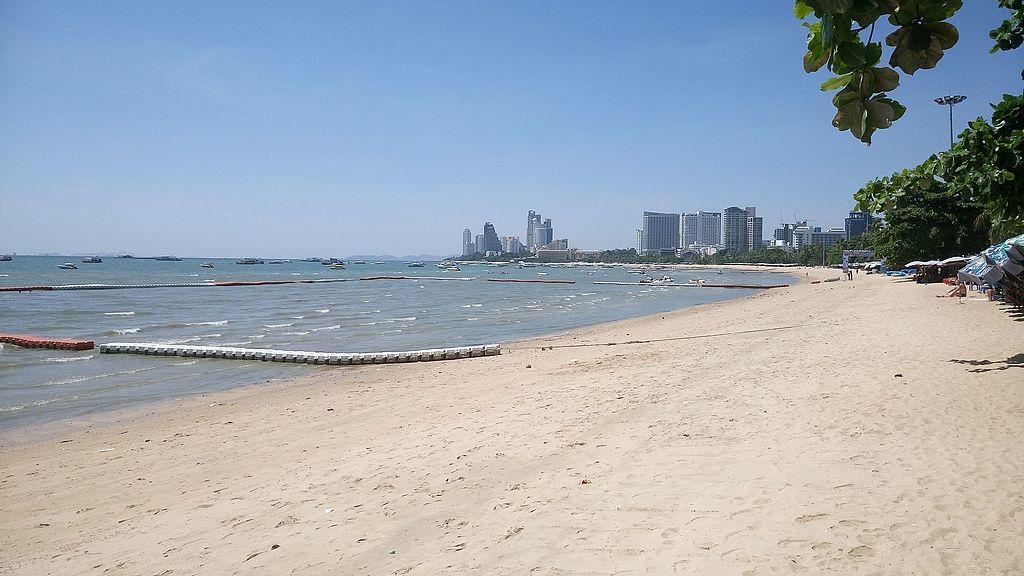 Pattaya beach on a sunny day