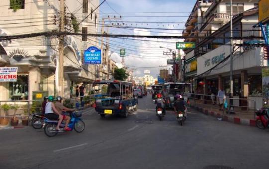 Pattaya Walking Street during daytime