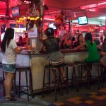 A beer bar in Pattaya city