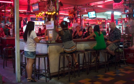 A beer bar in Pattaya city
