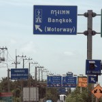 Road signs on Pattaya Motorway