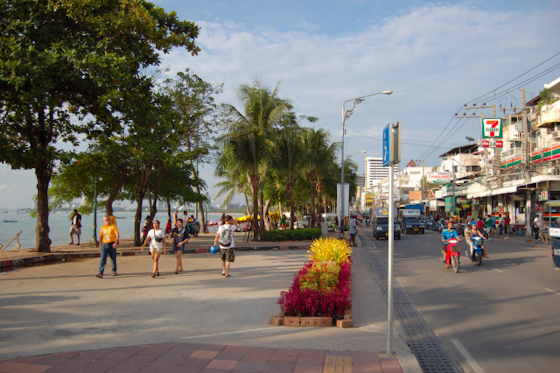 Pattaya seawall