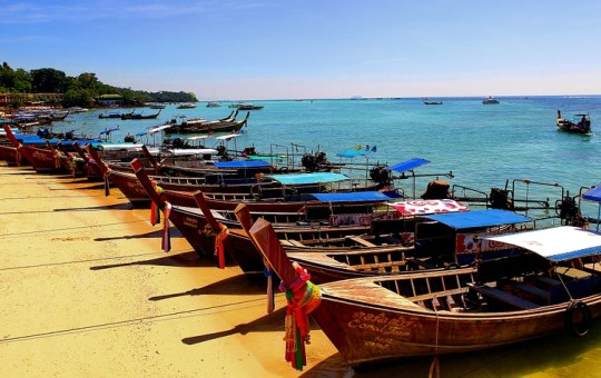Long-tail boats in Koh Phi Phi islands