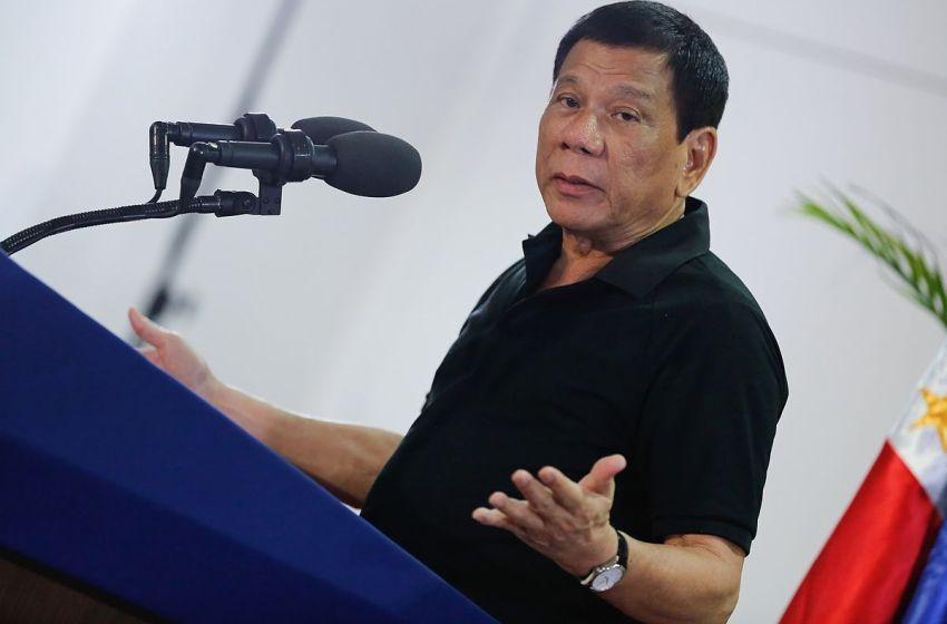 Philippines President Rodrigo Duterte speaking in Davao City