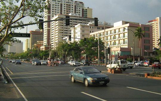 Roxas Boulevard in Manila, Philippines