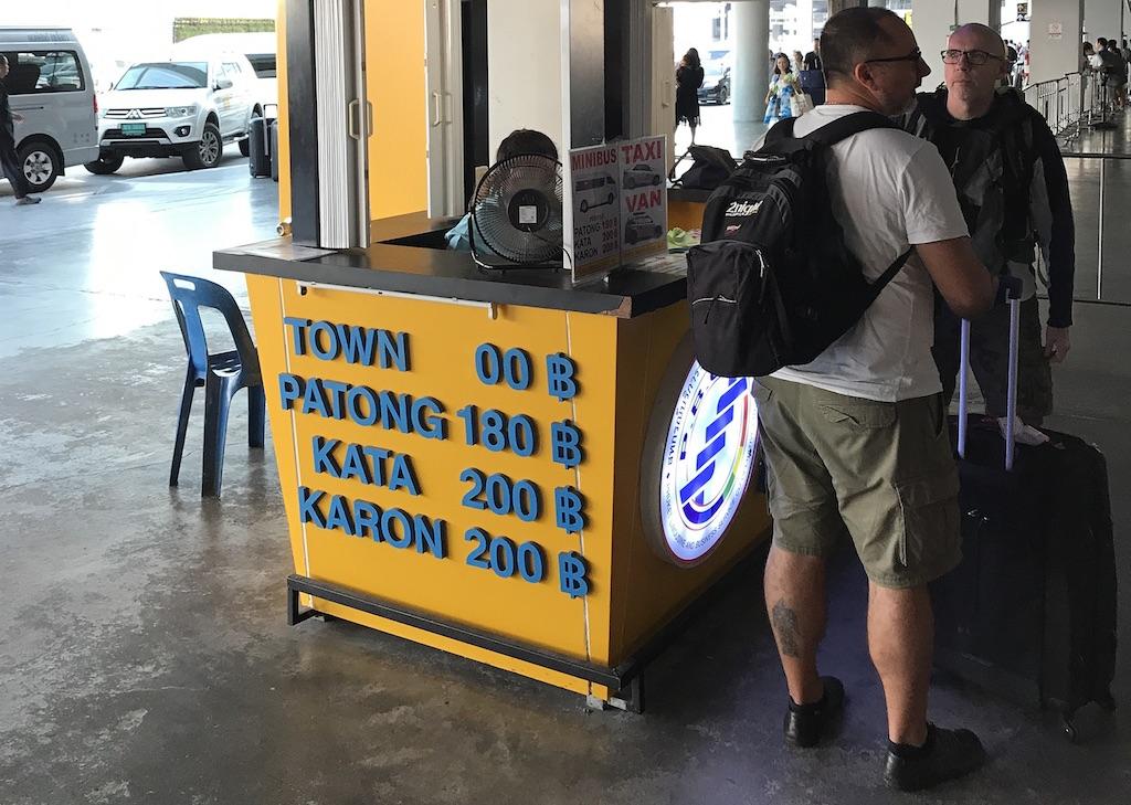 Phuket Airport taxi fares