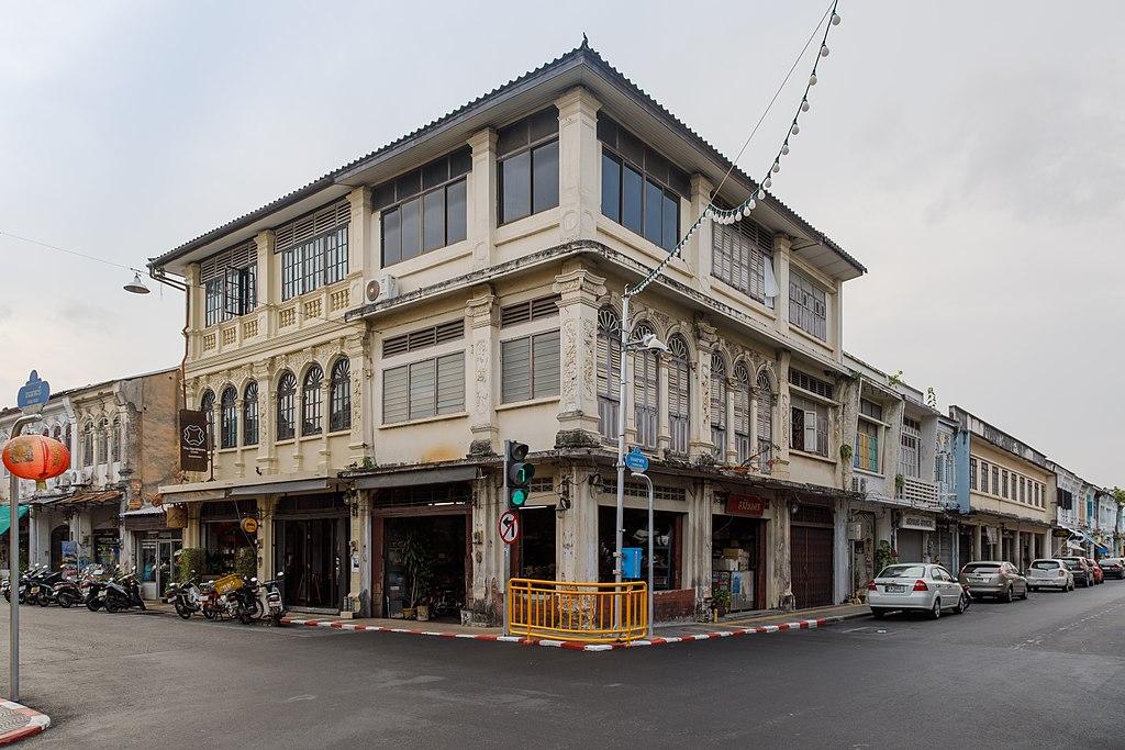 Buildings at Yaowarat Road in Phuket