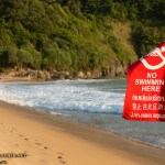 Red flag at Nai Harn beach in Phuket