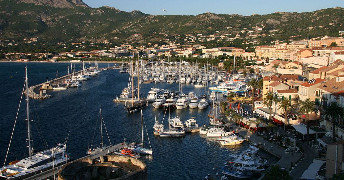 Port Calvi in Corsica, France