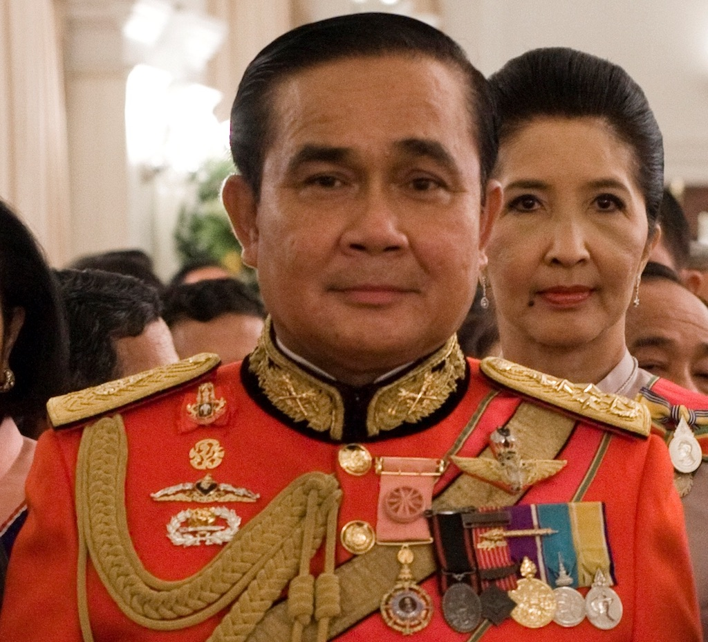 Prayut Chan-O-Cha in 1st Infantry Regiment's royal guard uniform