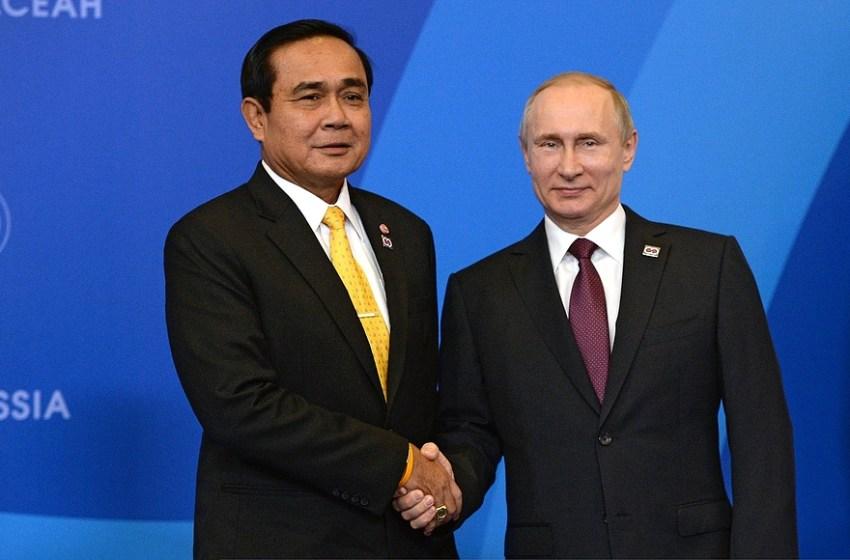 Prime Minister of Thailand Prayut Chan-o-cha and Vladimir Putin