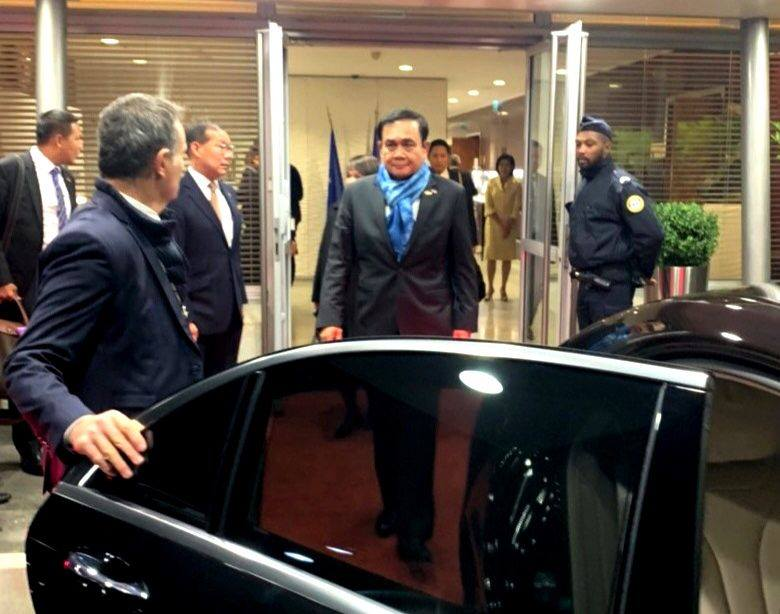 Thai Prime Minister Gen Prayut Chan-ocha attended the inauguration of the Paris Peace Forum