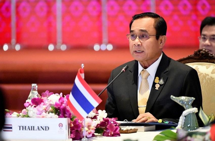 PM Prayut during a meeting