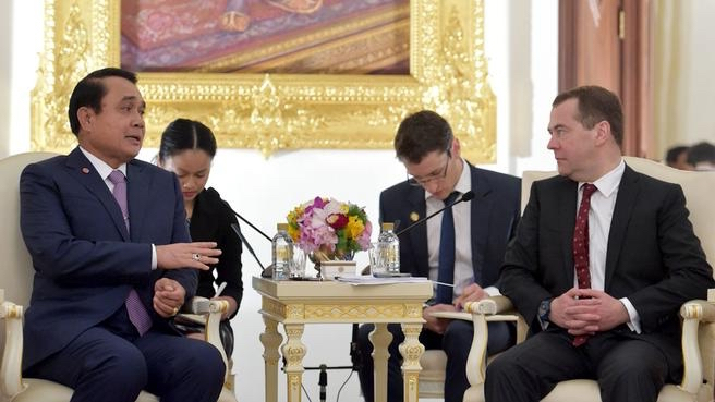 Dmitry Medvedev meets with Prime Minister of Thailand Prayut Chan-o-cha