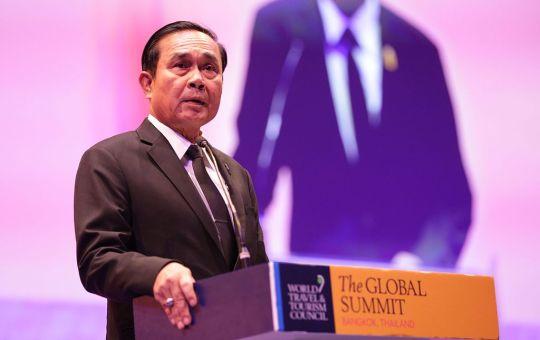 Prayut Chan-o-cha during the WTTC Global Summit 2017