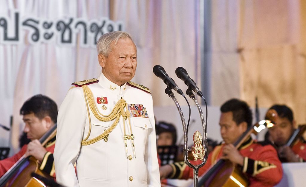 General Prem Tinsulanonda president of the Privy Council of Thailand