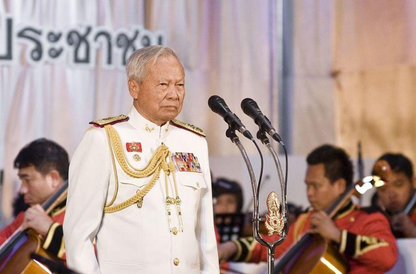 General Prem Tinsulanonda president of the Privy Council of Thailand