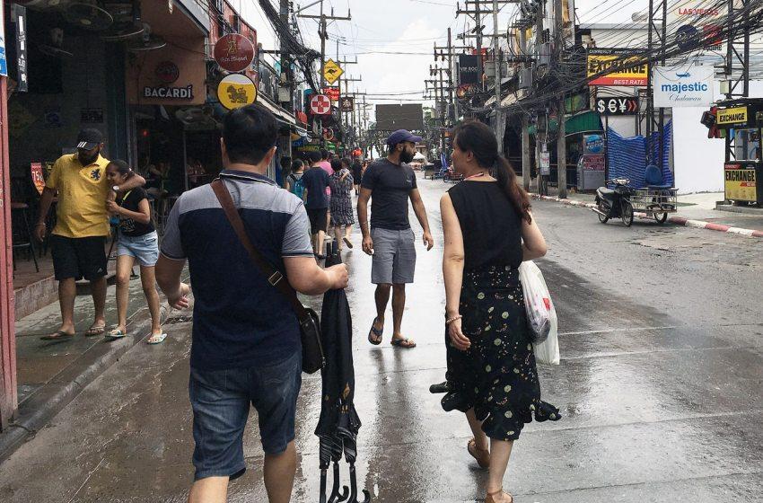 Rain at Bangla Road in Patong, Phuket