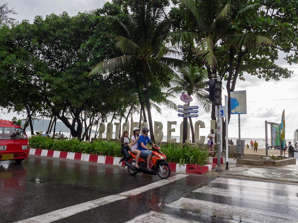 Rainy day in Patong Beach, Phuket
