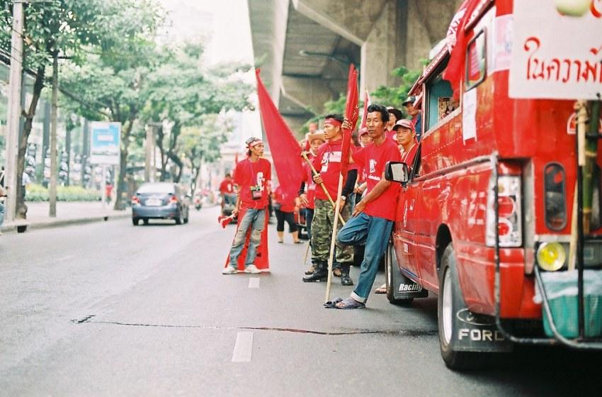 Red Shirts during the 2010 protets in Sukhumvit, Bangkok