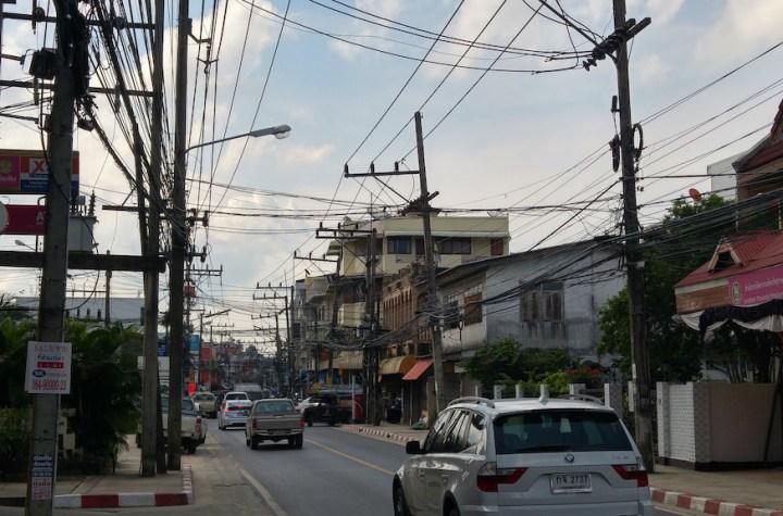Busy road in Koh Samui Island