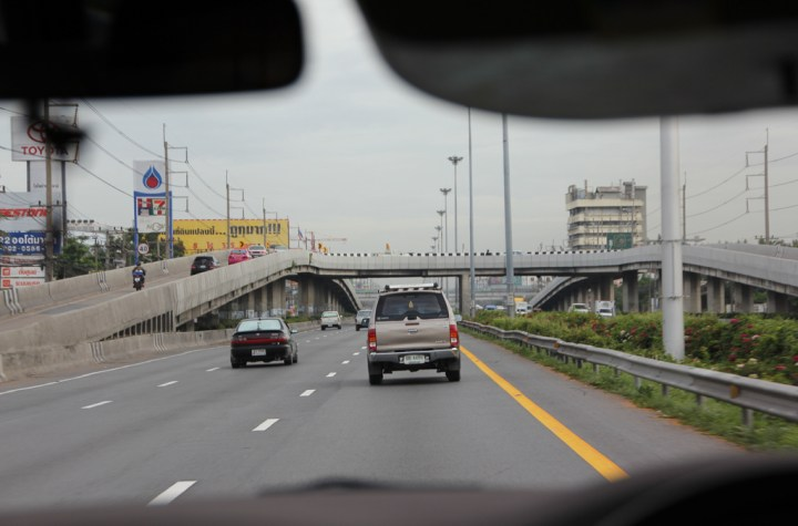 A road in Pathum Thani