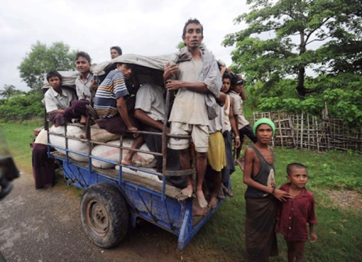 Rohingya men in Myanmar