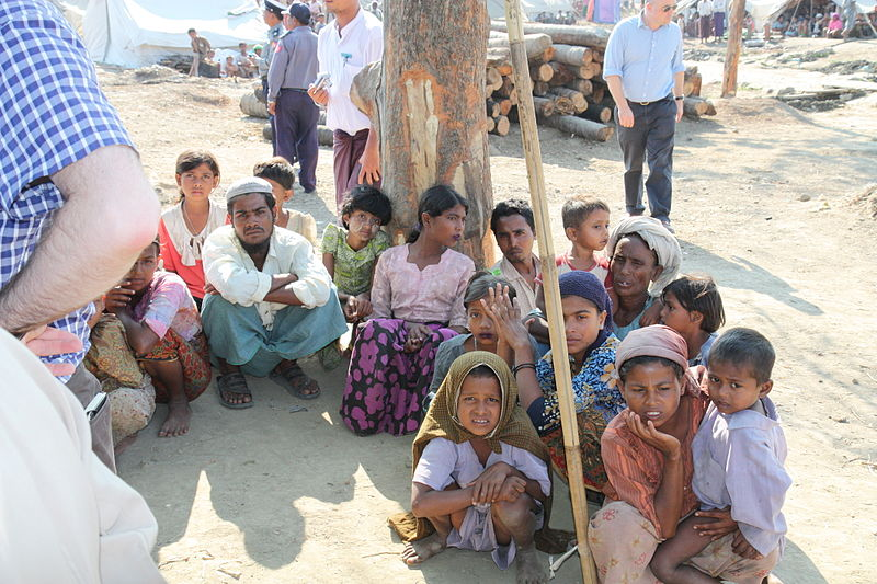 Rohingya people in Rakhine State, Myanmar