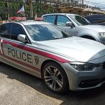 Thai Immigration Police, BMW 330e At Chachoengsao Immigration Office