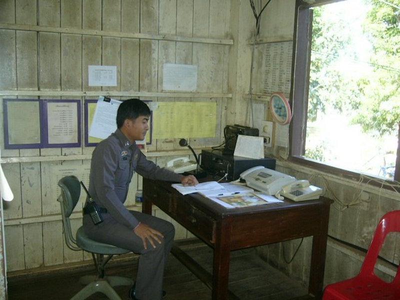Royal Thai Police radio operator